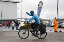 Steve James completes his round the world cycle!